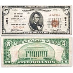 Series 1929 $5 National Bank Note, Type 1