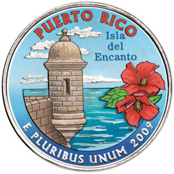 2009 Colorized Puerto Rico Territories Quarter
