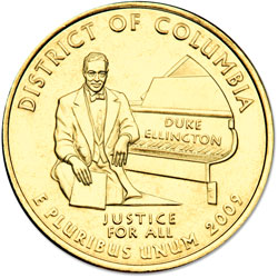 2009 Gold-Plated D.C. Territories Quarter