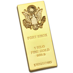Gold-Plated Fort Knox Bar Replica