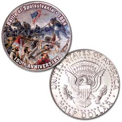 2014 Colorized Civil War Kennedy Half Dollar Battle of Spotsylvania