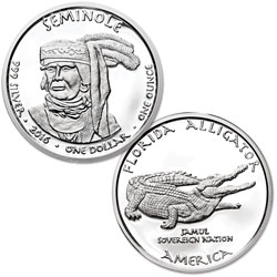 2016 Jamul Nation Seminole & Alligator Silver Dollar