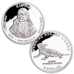 2018 Jamul Nation Wyoming Kiowa & Lizard Silver Dollar