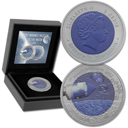 2018 Ghana 2 Cedis Titanium First Mission to the Moon