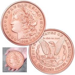 1893-S Morgan Dollar Replica Copper Round