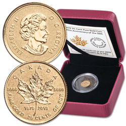 2019 Canada 1/2 Gram Gold Maple Leaf
