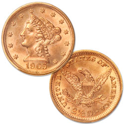 1901-1907 Gold $2.50 Liberty Head