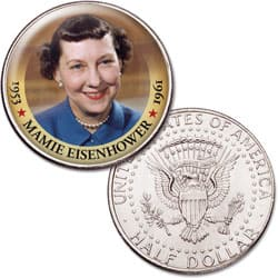Colorized First Spouses of America Half Dollar - Mamie Eisenhower