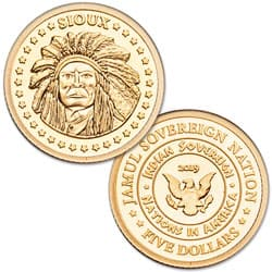 2019 Jamul Gold $5 Sioux Tribe