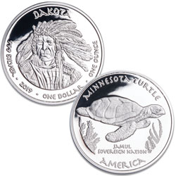 2019 Jamul Nation Dakota Tribe & Turtle Silver Dollar