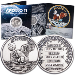Silver-Plated Apollo 11 Medal Replica