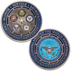 Department of Defense Proud Military Family Challenge Coin