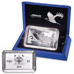 2019 Fiji 1 oz. SIlver $1 Majestic Eagle