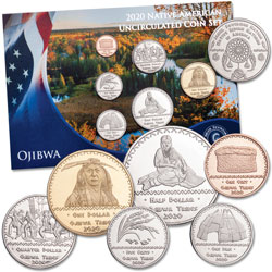 2020 Jamul Indian Coin Set - Ojibwa