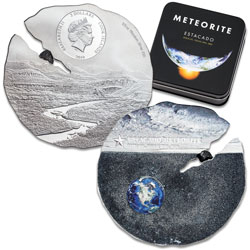 2019 Cook Islands 1/2 oz. Titanium-Silver $2 Estacado Meteorite