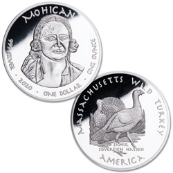 2020 Jamul Nation Mohican Tribe & Wild Turkey Silver Dollar
