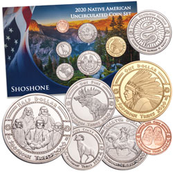 2020 Jamul Indian Coin Set - Shoshone Nation