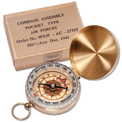 WWII Brass Compass Reproduction