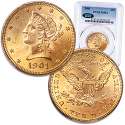 1901 Gold $10 Liberty Head