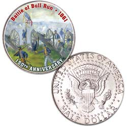 2011 Colorized Civil War Kennedy Half Dollar Battle of Bull Run