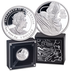 2020 Australia Silver $1 Lunar Series III - Year of the Mouse