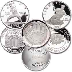 1992-2014 Buy Three Baseball Silver Dollars