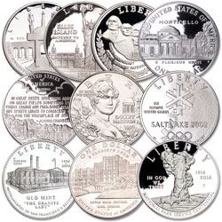 U.S. Landmark and Historic Site Commemorative Silver Dollar Set