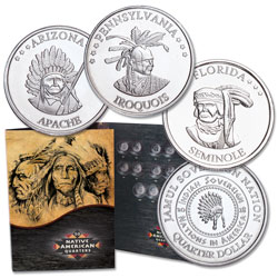 2018 First Three Native American Quarters and Folder