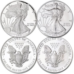 2019-W Burnished & Proof Silver American Eagles
