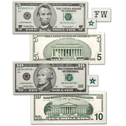 1999 $5 & $10 Federal Reserve Star Note Set