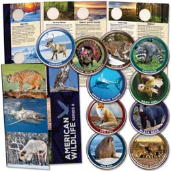 American Wildlife Series II Custom Folder and Coins
