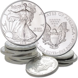 2018 Ten $1 Silver American Eagles