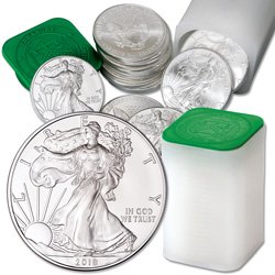 2018 Roll of Twenty $1 Silver American Eagles in U.S. Mint Tube