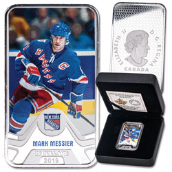 2019 Canada Silver $25 NHL Original Six Series - New York Rangers: Mark Messier