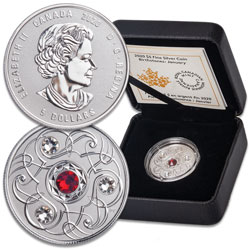 2020 Canada Silver $5 Birthstone - January
