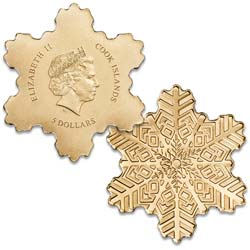Cook Islands Gold $5 Snowflake