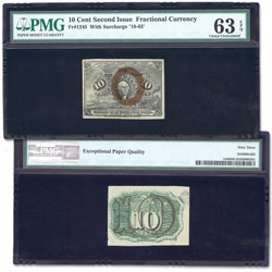 1863-1867 10¢ Fractional Note