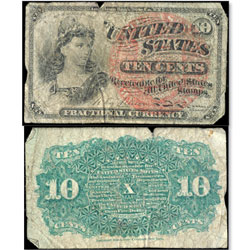 10¢ Fractional Currency Note