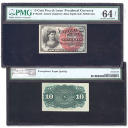 1869-1875 10¢ Fractional Note
