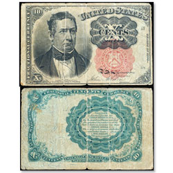 1874-1876 10¢ Fractional Currency Note