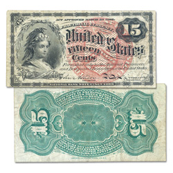 15¢ Fractional Currency Note