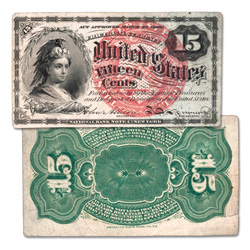 1869-1875 15¢ Fractional Note