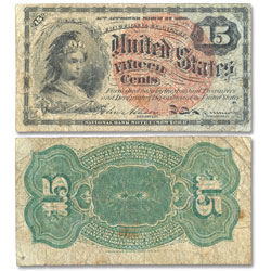 1869-1875 15¢ Fractional Currency Note
