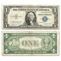 1935G $1 Silver Certificate, Star Note
