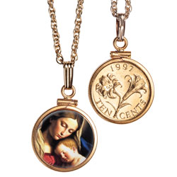Madonna & Child Gold-Plated Necklace