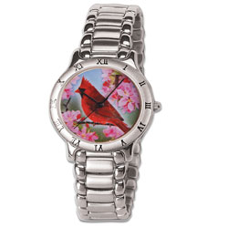 Colorized Cardinal Native American Dollar Woman's Watch