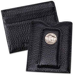 Buffalo Nickel Money Clip - Black