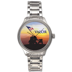 Colorized WWII Valor Eisenhower Dollar Watch