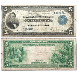 1918 $5 Federal Reserve Bank Note