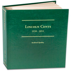 1959-2011 Lincoln Cent Album, Volume 2, with Anniversary Holes
